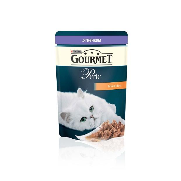 Консервы для кошек Gourmet Perle, мини-филе с ягненком, 85 г