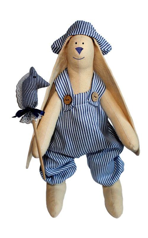 """Набор для изготовления текстильной игрушки """"Зайка Илюша"""", 29 см, Кустарь"""