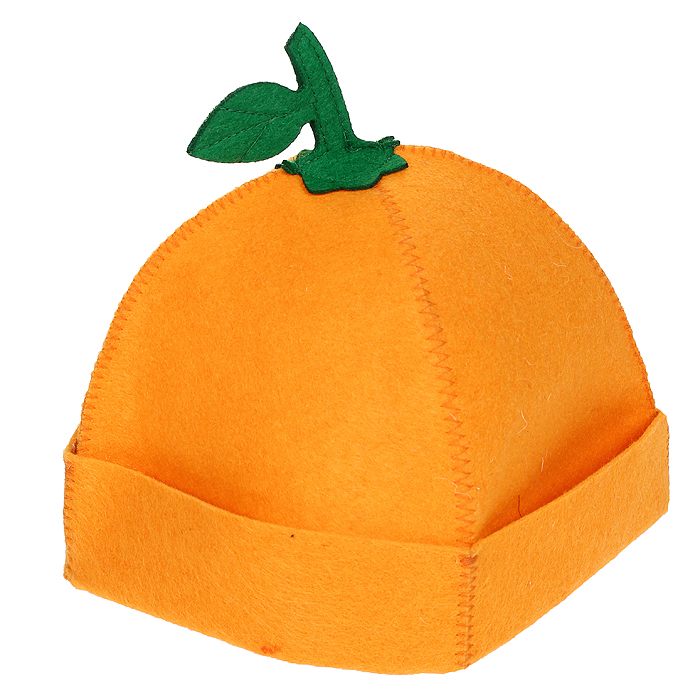Шапка для бани и сауны Апельсинка, цвет: оранжевый787502Шапка для бани и сауны Апельсинка, изготовленная из войлока, это незаменимый аксессуар для любителей попариться в русской бане и для тех, кто предпочитает сухой жар финской бани. Необычный дизайн изделия поможет сделать ваш отдых более приятным и разнообразным, к тому шапка защитит вас от появления головокружения в бани, ваши волосы от сухости и ломкости, а голову от перегрева. Такая шапка станет отличным подарком для любителей отдыха в бане или сауне. Характеристики:Материал: войлок (100% полиэстер). Цвет: оранжевый. Диаметр основания шапки: 29 см. Высота шапки: 21 см. Артикул: 905249.