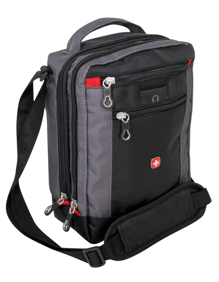 Сумка дорожная Wenger Vertical Boarding Bag, цвет: черный, серый