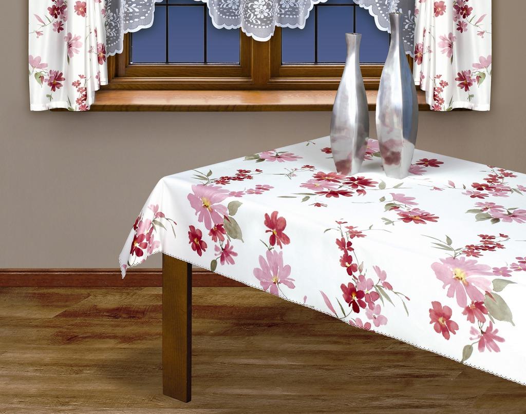 Скатерть Haft, прямоугольная, цвет: белый, розовый, 160x 120 см115347Великолепная прямоугольная скатерть Haft, выполненная из полиэстера, с цветочным рисунком розового цвета органично впишется в интерьер любого помещения, а оригинальный дизайн удовлетворит даже самый изысканный вкус. Ажурный край скатерти придает ей оригинальность и своеобразие. В современном мире кухня - это не просто помещение для приготовления и приема пищи; это особое место, где собирается вся семья и царит душевная атмосфера. Кухня - душа вашего дома, поэтому важно создать в ней атмосферу уюта. Характеристики: Материал: 100% полиэстер. Размер: 160 см х 120 см. Цвет: белый, розовый. Производитель: Польша. Артикул: 201300/160.