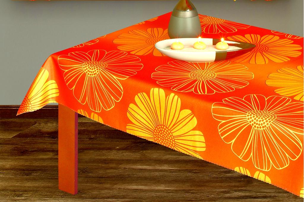 Скатерть Haft, прямоугольная, цвет: оранжевый, 160x 120 см201300/160 белыйВеликолепная прямоугольная скатерть Haft, выполненная из полиэстера оранжевого цвета, органично впишется в интерьер любого помещения, а оригинальный дизайн удовлетворит даже самый изысканный вкус. Скатерть по всей поверхности украшена крупным цветочным рисунком. Ажурный край скатерти придает ей оригинальность и своеобразие. Характеристики: Материал: 100% полиэстер. Размер: 160 см х 120 см. Цвет: оранжевый. Производитель: Польша. Артикул: 201300/160.