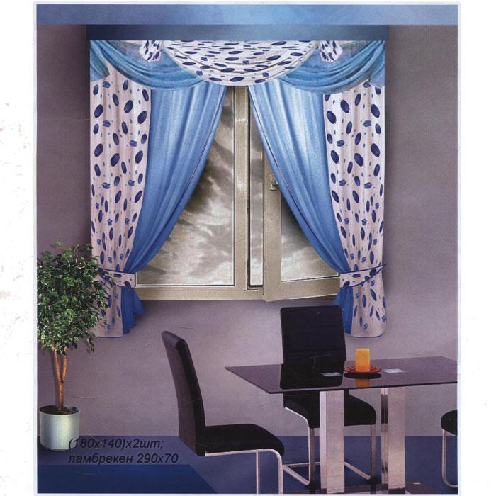 Комплект штор для кухни Zlata Korunka, на ленте, цвет: белый, голубой, высота 180 см. Б087UN111305145Комплект штор Zlata Korunka, изготовленный из легкой и воздушной вуали, станет великолепным украшением кухонного окна. В комплект входят 2 шторы, ламбрекен и 2 подхвата. Шторы и ламбрекен выполнены из сшитых между собой полотен, полотна белого цвета украшены нежным цветочным рисунком. Для более изящного расположения на окне к комплекту прилагается 2 подхвата. Все элементы комплекта оснащены шторной лентой для красивой сборки. Оригинальный дизайн и приятная цветовая гамма привлекут к себе внимание и органично впишутся в интерьер.