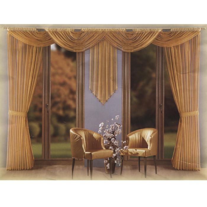 Комплект штор Wisan Wersal, на ленте, цвет: бежевый, высота 250 смS03301004Роскошный комплект штор Wisan Wersal, выполненный из полиэстера, великолепно украсит любое окно. Комплект состоит из двух штор, трех ламбрекенов разного размера и двух подхватов. Предметы комплекта выполнены из бежевой сетчатой ткани и декорированы коричневым кантом.Тонкое плетение, оригинальный дизайн и нежная цветовая гамма привлекут к себе внимание и органично впишутся в интерьер комнаты. Все предметы комплекта - на шторной ленте для собирания в сборки. Характеристики: Материал: 100% полиэстер. Цвет: бежевый. Размер упаковки: 37 см х 29 см х 9 см. Артикул: W018.В комплект входят: Штора - 2 шт. Размер (Ш х В): 250 см х 250 см. Ламбрекен - 2 шт. Размер (Ш х В): 150 см х 80 см. Ламбрекен - 1 шт. Размер (Ш х В): 150 см х 150 см. Подхват - 1 шт. Фирма Wisan на польском рынке существует уже более пятидесяти лет и является одной из лучших польских фабрик по производству штор и тканей. Ассортимент фирмы представлен готовыми комплектами штор для гостиной, детской, кухни, а также текстилем для кухни (скатерти, салфетки, дорожки, кухонные занавески). Модельный ряд отличает оригинальный дизайн, высокое качество. Ассортимент продукции постоянно пополняется.