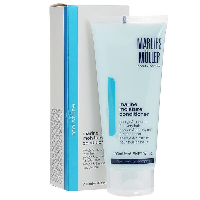 Marlies Moller Кондиционер Moisture, увлажняющий, 200 млAC-1121RDОбеспечивает волосам увлажнение без утяжеления и комфорт для кожи головы. Придает мгновенную эластичность, энергию и облегчает укладку волос. Делает волосы легкими в расчесывании. Придает волосам силу и обладает антистатическим эффектом. Укрепляет волосы от корней до кончиков для более здорового блеска и бесподобного сияния. Не содержит силиконы.После применения шампуня нанесите небольшое количество кондиционера на всю длину и кончики волос. Оставьте на несколько минут, затем тщательно смойте.