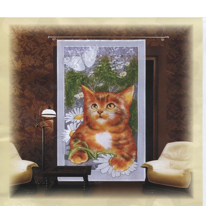 Гардина-панно Wisan, на ленте, цвет: белый, зеленый, коричневый, высота 240 см. Е062K100Гардина-панно Wisan, изготовленная из полиэстера, станет великолепным украшением любого окна.Тонкое плетение и оригинальный рисунок в виде котенка на фоне цветов привлечет к себе внимание и органично впишется в интерьер. Гардина оснащена шторной лентой для крепления на карниз. Характеристики:Материал: 100% полиэстер. Размер упаковки:36 см х 27 см х 2 см. Артикул: Е062.В комплект входит: Гардина-панно - 1 шт. Размер (Ш х В): 150 см х 240 см. Фирма Wisan на польском рынке существует уже более пятидесяти лет и является одной из лучших польских фабрик по производству штор и тканей. Ассортимент фирмы представлен готовыми комплектами штор для гостиной, детской, кухни, а также текстилем для кухни (скатерти, салфетки, дорожки, кухонные занавески). Модельный ряд отличает оригинальный дизайн, высокое качество. Ассортимент продукции постоянно пополняется.