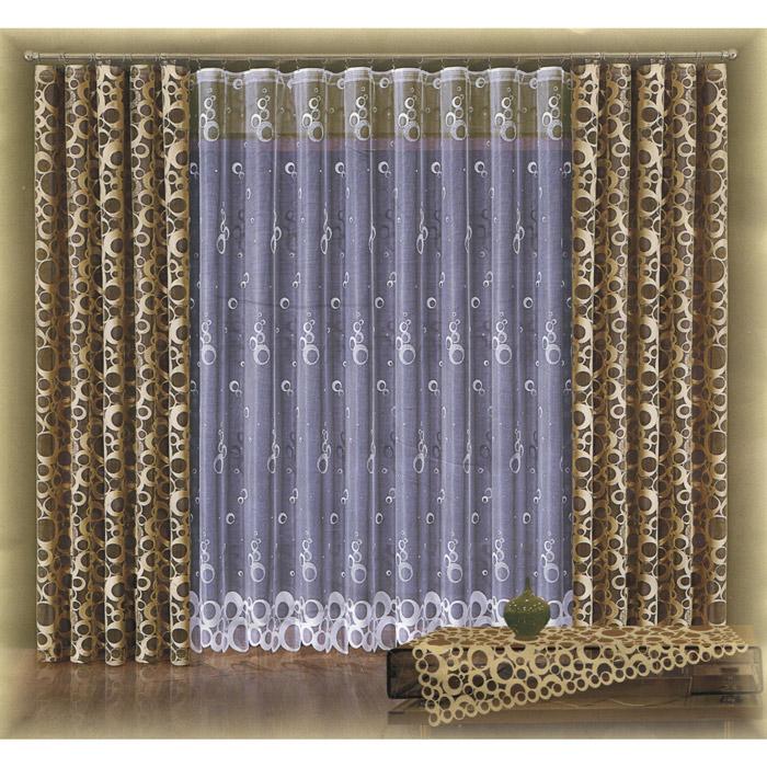 Комплект штор Wisan Stawa, на ленте, цвет: капучино, высота 250 смUN123082630Комплект штор Wisan Stawa, выполненный из полиэстера, великолепно украсит любое окно. Комплект состоит из двух штор и тюля. Шторы выполнены из легкой полупрозрачной ткани цвета капучино с оригинальным рисунком. Тюль выполнен из белой полупрозрачной ткани с оригинальным рисунком.Тонкое плетение, оригинальный дизайн и нежная цветовая гамма привлекут к себе внимание и органично впишутся в интерьер комнаты. Все предметы комплекта - на шторной ленте для собирания в сборки. Характеристики: Материал: 100% полиэстер. Цвет: капучино. Размер упаковки: 37 см х 32 см х 7 см. Артикул: W016.В комплект входят: Штора - 2 шт. Размер (Ш х В): 140 см х 250 см. Тюль - 1 шт. Размер (Ш х В): 400 см х 250 см. Фирма Wisan на польском рынке существует уже более пятидесяти лет и является одной из лучших польских фабрик по производству штор и тканей. Ассортимент фирмы представлен готовыми комплектами штор для гостиной, детской, кухни, а также текстилем для кухни (скатерти, салфетки, дорожки, кухонные занавески). Модельный ряд отличает оригинальный дизайн, высокое качество. Ассортимент продукции постоянно пополняется.