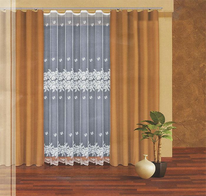 Комплект штор Haft, на ленте, цвет: белый, оливковый, высота 270 см. 203040/270S03301004Комплект штор Haft, изготовленный из полиэстера, станет великолепным украшением любого окна. В набор входит 2 шторы оливкового цвета и тюль белого цвета. Воздушный тюль украшен ажурным рисунком. Все элементы комплекта на шторной ленте для собирания в сборки.Оригинальный дизайн и приятная цветовая гамма привлекут к себе внимание и органично впишутся в интерьер. Характеристики: Материал: 100% полиэстер. Цвет: белый, оливковый. Размер упаковки: 50 см х 35 см х 10 см. Артикул: 203040/270. В комплект входит: Штора - 2 шт. Размер (Ш х В): 160 см х 270 см. Тюль - 1 шт. Размер (Ш х В): 300 см х 270 см.