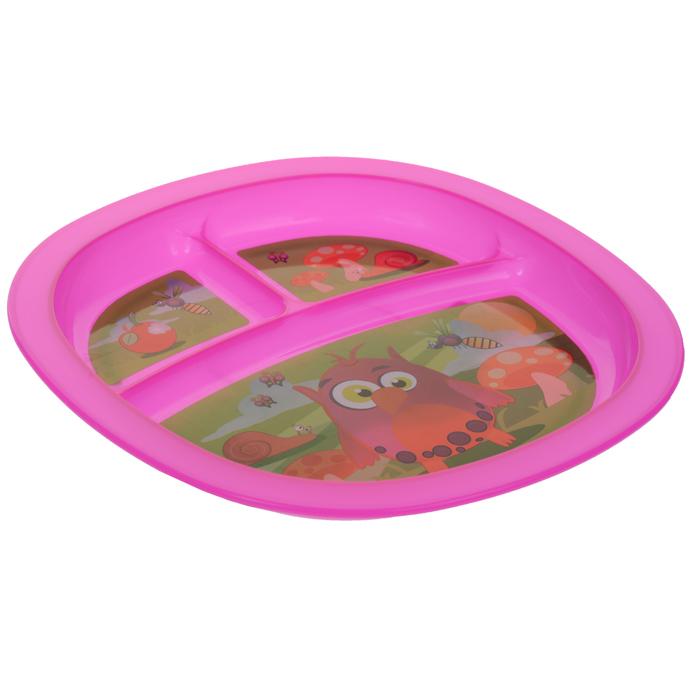 Munchkin Тарелка детская с разделителями цвет розовый54 009312Детская тарелка Munchkin прекрасно подойдет для кормления малыша и самостоятельного приема им пищи. Она выполнена из прочного безопасного пластика, не содержащего бисфенол А и фталаты и оформлена яркими рисунками. Тарелочка разделена на три секции, которые не позволят еде смешиваться. На дне имеются прорезиненные вставки, предохраняющие ее от скольжения. Миска подходит для использования в микроволновой печи. Можно мыть на верхней полке в посудомоечной машине. Кредо Munchkin, американской компании с 20-летней историей: избавить мир от надоевших и прозаических товаров, искать умные инновационные решения, которые превращает обыденные задачи в опыт, приносящий удовольствие. Понимая, что наибольшее значение в быту имеют именно мелочи, компания создает уникальные товары, которые помогают поддерживать порядок, организовывать пространство, облегчают уход за детьми - недаром компания имеет уже более 140 патентов и изобретений, используемых в создании ее неповторимой и оригинальной продукции. Munchkin делает жизнь родителей легче! Характеристики:Рекомендуемый возраст:от 6 месяцев. Размер тарелки: 19,5 см х 19,5 см х 2 см. Изготовитель:Китай.УВАЖАЕМЫЕ КЛИЕНТЫ! Обращаем ваше внимание на возможные изменения в дизайне, связанные с ассортиментом продукции: цвет изделия и рисунок могут отличаться от представленного на изображении. Поставка осуществляется в зависимости от наличия на складе.