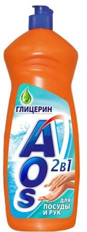 Жидкость для мытья посуды AOS Глицерин, 1 л жидкость для мытья посуды aos лимон 500 мл