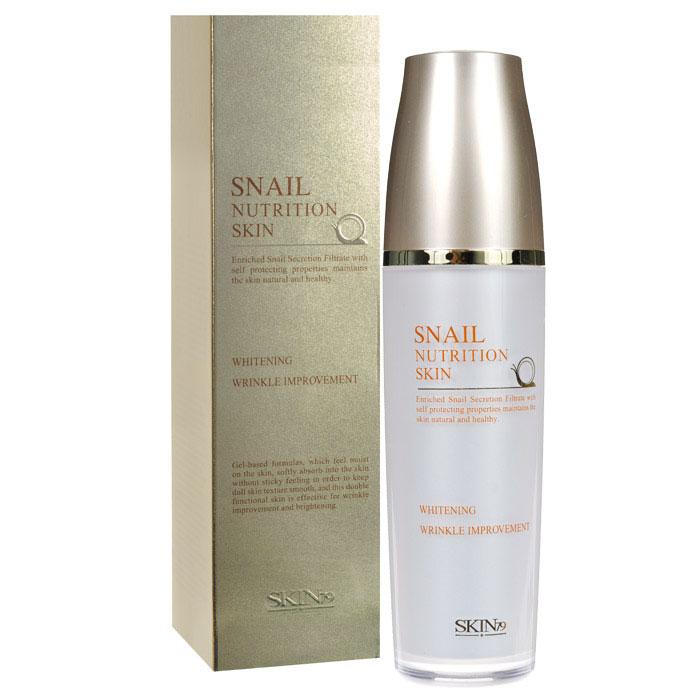 SKIN79 Тоник для лица Snail Nutrition с экстрактом улитки, 120 мл862438Тоник для лица SKIN79 «Snail Nutrition» на основе геля, мягко впитывается в кожу прекрасно увлажняет, не оставляет липкого ощущения. Сохраняет кожу гладкой и упругой. Обладает эффективным анти-айдж эффектом, прекрасно разглаживает морщины и предотвращает их раннее появление. Обильное содержание фильтрата улиточной секреции делает кожу яркой и эластичной. Обеспечивает богатое питание для кожи из-за содержания Fucogel - 1000. Это комбинация полисахаридов, которые получают путем биотехнологического процесса ферментации из натуральных растительных компонентов. Фукогель дарит коже нежность, шелковистость без эффекта маслянистости. Обеспечивает мгновенный и продолжительный эффект увлажненности, благодаря формированию пленочки на коже и эффекту удержания влаги. Насыщает влагой роговой слой кожи на более длительный период. Запатентованный состав морской улитки придает коже гладкость и питание в течение длительного времени. B-глюкан и швейцарские альпийские травы помогут делать защитный барьер для кожи, а также помогут выглядеть коже более живой и здоровой. Кроме того, травы прекрасно успокаивают раздраженную кожу, а b-глюкан поможет скрыть все следы усталости на вашем лице. Способ применения: после очищения, нанесите небольшое количество тоника на лицо, слегка похлопайте по коже лица, дайте впитаться.Характеристики:Объем: 120 мл . Размер упаковки: 5,2 см x 5,2 см x 19,7 см. Артикул: 666640. Товар сертифицирован.