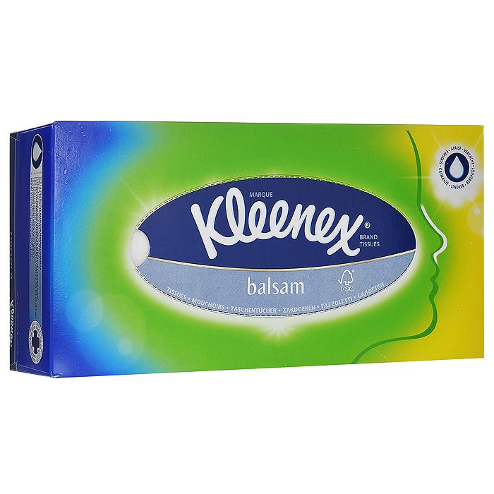 Kleenex Салфетки в коробке Balsam, 80 шт28032022Мягкие трехслойные гигиенические салфетки Kleenex Balsam изготовлены из 100% первичной целлюлозы с незаметным на ощупь тонким слоем бальзама, на основе минерального масла с экстрактом календулы.Покрывают кожу тончайшей пленкой, которая защищает ее от раздражения. Характеристики:Количество: 80 шт. Размер салфетки: 20 см х 20 см. Размер упаковки: 23 см х 6,5 см х 11,5 см. Артикул: 3396150. Производитель:Великобритания. Товар сертифицирован.