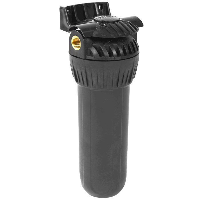Корпус фильтра Гейзер 10 х 1/2 для горячей воды, цвет: черный50001Корпус Гейзер 10SL ? для горячей воды.Изготовлен из термостойкого полиамида с металлическими ниппелями. Корпус рассчитан на работу под давлением и установку на входе в систему горячего или холодного водоснабжения. В производстве корпусов используются материалы пищевого класса.Особенности корпуса: Корпус испытан давлением 30 Атм Температура воды до +95°С Надежные резьбовые вставки из латуни Простое подключение и монтаж Легкая замена картриджа
