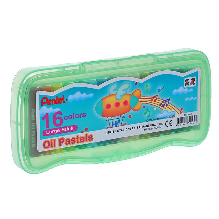 Пастель масляная Pentel Oil Pastels, 16 цветовC13S041944Набор Pentel Oil Pastels содержит масляную постель 16 ярких активных цветов. Пастель выполнена в виде мелков цилиндрической формы, каждый из которых обернут в бумажную гильзу. Мелки великолепного качества не крошатся при работе, обладают отличными кроющими свойствами, обеспечивают хорошее сцепление с поверхностью, яркость и долговечность изображения. Пастель изготовлена из натуральных компонентов и не содержит вредных примесей, соответствует европейскому стандарту качества EN71, утвержденному для детских товаров.Масляной постелью Pentel Oil Pastels можно рисовать в любой технике - в сочетании с цветными карандашами и красками. При работе рекомендуется использовать шероховистые поверхности - специальные бумаги, картон, холст. Характеристики: Длина мелка пастели: 6 см. Диаметр мелка пастели: 1 см. Размер упаковки: 21 см х 9,5 см х 2 см. Изготовитель: Тайвань.