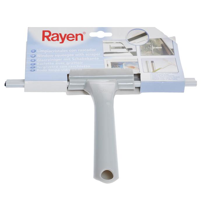 Щетка для окон Rayen, длина 25 смK100Щетка для окон Rayen подходит для эффективного удаления водных остатков или моющего раствора с вымытых стекол и других гладких поверхностей. Изготовлен из прочного пластика, насадка выполнена из высококачественной эластичной резины, что позволяет одним движением согнать воду. Характеристики: Материал: пластик, резина. Длина рабочей поверхности: 25 см. Размер упаковки: 30 см х 25 см х 4 см. Производитель: Испания. Артикул: 37003197.