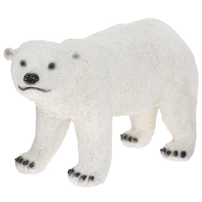 Фигурка декоративная Белый медведь. ММ-005Z-0307Декоративная фигурка Белый медведь, выполненная из полистоуна, - это долговечное и износостойкое изделие, которое не потеряет яркости красок и четкости форм даже после длительной эксплуатации.Садовые фигурки и украшения, изготовленные из данной модификации искусственного камня, отличаются прочностью, красотой и стойкостью к любым негативным климатическим воздействиям. Данная фигурка может выступать в качестве красивого и оригинального сувенира для друзей и близких.Дом, украшенный оригинальными фигурками, приобретает свою индивидуальность, свой характер. Неожиданные и оригинальные декоративные фигурки - это самый простой и доступный способ сделать дом, дачу или приусадебную территорию неповторимыми. Характеристики: Материал: полистоун. Размер фигурки (В х Ш х Д): 24 см х 13 см х 44 см. Размер упаковки: 55 см х 28 см х 26 см. Артикул: ММ-005.