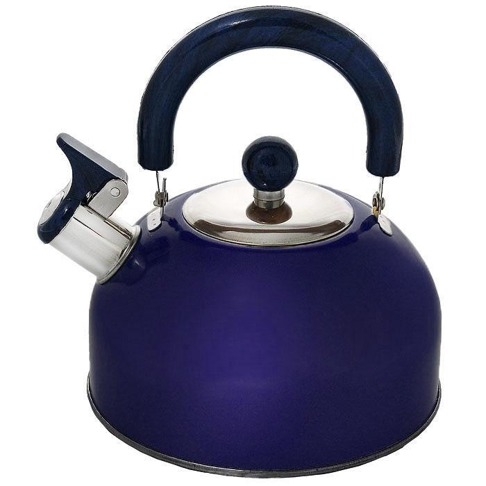 Чайник Mayer & Boch со свистком, цвет: синий, 2,5 л. МВ-322693-FR-13-01-600Чайник Mayer & Boch изготовлен из высококачественной нержавеющей стали. Гладкая и ровная поверхность существенно облегчает уход. Он оснащен удобной нейлоновой ручкой, которая не нагревается даже при продолжительном периоде нагрева воды. Носик чайника имеет насадку-свисток, что позволит вам контролировать процесс подогрева или кипячения воды. Выполненный из качественных материалов чайник Mayer & Boch при кипячении сохраняет все полезные свойства воды.Чайник пригоден для использования на всех типах плит, кроме индукционных. Можно мыть в посудомоечной машине. Характеристики:Материал:сталь, нейлон. Объем:2,5 л. Диаметр основания чайника:18,5 см. Высота чайника (с учетом ручки):23 см. Высота чайника (без учета ручки):16 см. Размер упаковки:19 см х 18,5 см х 15 см. Артикул:МВ-3226.