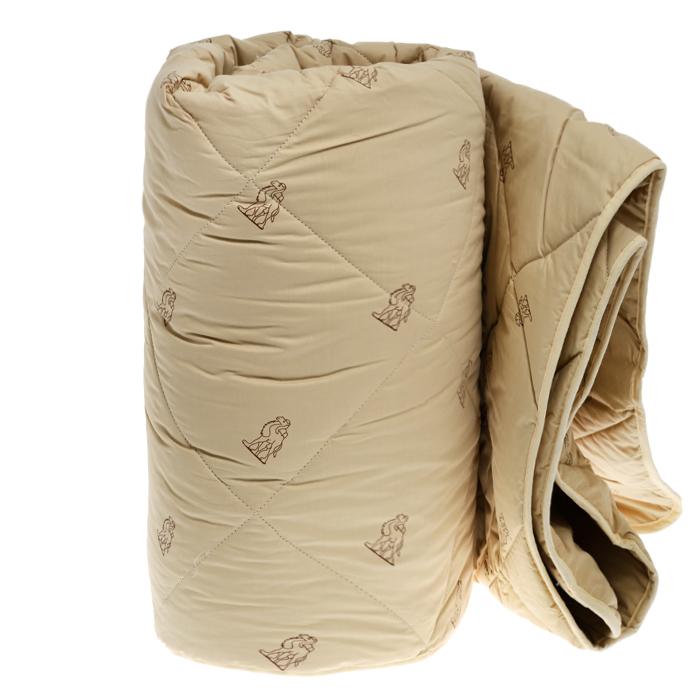Одеяло всесезонное OL-Tex Верблюжья шерсть, наполнитель: верблюжья шерсть, цвет: бежевый, 200 см х 220 см1.645-370.0Чехол всесезонного одеяла OL-Tex Верблюжья шерсть выполнен из высококачественного плотного материала тик (100% хлопок) бежевого цвета с набивным рисунком в виде верблюдов по всей поверхности. Наполнитель - верблюжья шерсть с полиэстером.Особенности наполнителя: - исключительные терморегулирующие свойства;- высокое качество прочеса и промывки шерсти; - великолепные ощущения комфорта и уюта.Верблюжья шерсть - обладает целебными качествами, содержит наиболее высокий процент ланолина (животного воска), благоприятно воздействующего на организм по целому ряду показателей: оказывает благотворное действие на мышцы, суставы, позвоночник, нормализует кровообращение, имеет профилактический эффект при заболевания опорно-двигательного аппарата. Кроме того, верблюжья шерсть антистатична.Всесезонное одеяло из верблюжьей шерсти OL-Tex согреет вас в любое время года.Одеяло упаковано в прозрачный пластиковый чехол на змейке с ручками, что является чрезвычайно удобным при переноске.Рекомендации по уходу:- Стирка запрещена,- Нельзя отбеливать. При стирке не использовать средства, содержащие отбеливатели (хлор),- Не гладить. Не применять обработку паром,- Химчистка с использованием углеводорода, хлорного этилена, монофтортрихлорметана (чистка на основе перхлорэтилена),- Нельзя выжимать и сушить в стиральной машине. Характеристики: Материал чехла: тик (100% хлопок). Наполнитель: верблюжья шерсть, полиэстер. Цвет: бежевый. Плотность: 300 г/м2. Размер одеяла: 200 см х 220 см. Размеры упаковки: 55 см х 45 см х 15 см. Артикул: ОВТ-22-3.