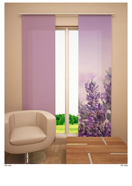 Японская панель Garden Сиреневые цветы, 60 см х 270 см98299571Японская панель Garden Сиреневые цветы выполнена из 100% полиэстера с ярким рисунком. Такая панельсможет заменить обычные шторы и оригинально украсить любой интерьер - от классики до авангарда. Японскаяпанель будет смотреться как в просторных помещениях с большими окнами, так и в маленьких комнатах такиешторы могут создать уют и комфорт. Современные японские панели позволяют оформлять не только оконныеи дверные проемы, но и могут выступать в качестве декоративных перегородок: для отделения рабочей зоны,спального места, кухни. Преимущество данных штор в том, что они, как и жалюзи, занимают маломеста. Конструкция позволяет их легко монтировать и снимать. Внизу панель утяжелена специальной планкой. Авверху панель крепиться на липучке к специальной жесткой планке для крепления и перемещенияпо карнизу. Для подвешивания японских штор необходим специальный карниз. Он представляет собой алюминиевый профильс несколькими рядами для панелей (до 10 рядов). Штора крепится на направляющую при помощилипучки. Такое крепление позволяет очень быстро и легко сменить панели на другие. На один карниз можноподвесить несколько штор. Для современного городского интерьера, избавленного от лишних деталей и вычурного декора, как нельзя лучшеподойдут японские шторы. Они станут не только украшением интерьера, привлекая к себе внимание, нои помогут создать в помещении романтическую теплую атмосферу, рассеивая яркий солнечный свет, приглушаяобщее освещение комнаты. Разнообразие цветов, текстур и материалов позволяет подобратьподходящие композиции для любого интерьера.В комплект входит:Японская панель - 1 шт. Размер (Ш х В): 60 см х 270 см. Уважаемые клиенты!Однотонная японская штора, представленная на фото, в комплект не входит и приобретается отдельно.В данном случае она представлена для визуальной демонстрации возможного сочетания штор в интерьере.