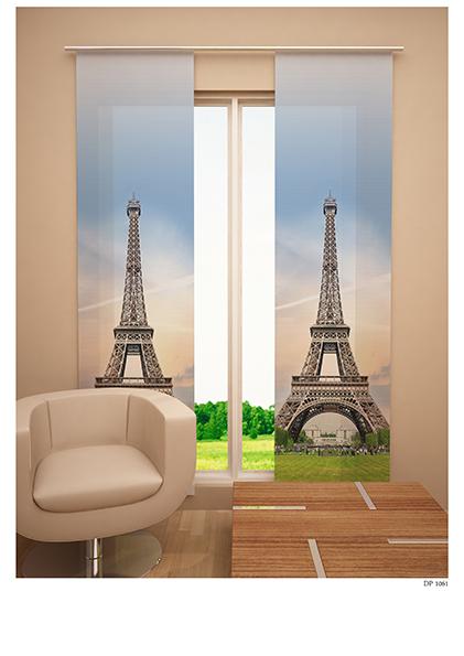 Японская панель Garden Эйфелева башня, 60 см х 270 смSVC-300Японская панель Garden Эйфелева башня выполнена из 100% полиэстера с ярким рисунком. Такая панельсможет заменить обычные шторы и оригинально украсить любой интерьер - от классики до авангарда.Японская панель будет смотреться как в просторных помещениях с большими окнами, так и в маленькихкомнатах такие шторы могут создать уют и комфорт. Современные японские панели позволяют оформлять нетолько оконные и дверные проемы, но и могут выступать в качестве декоративных перегородок: для отделениярабочей зоны, спального места, кухни и т.д. Преимущество данных штор в том, что они, как и жалюзи, занимают мало места. Конструкция позволяет ихлегко монтировать и снимать. Внизу панель утяжелена специальной планкой. А вверху панель крепиться налипучке к специальной жесткой планке для крепления и перемещения по карнизу. Для подвешивания японских штор необходим специальный карниз. Он представляет собой алюминиевыйпрофиль с несколькими рядами для панелей (до 10 рядов). Штора крепится на направляющую при помощилипучки. Такое крепление позволяет очень быстро и легко сменить панели на другие. На один карниз можноподвесить несколько штор. Для современного городского интерьера, избавленного от лишних деталей и вычурного декора, как нельзялучше подойдут японские шторы. Они станут не только украшением интерьера, привлекая к себе внимание, нои помогут создать в помещении романтическую теплую атмосферу, рассеивая яркий солнечный свет,приглушая общее освещение комнаты. Разнообразие цветов, текстур и материалов позволяет подобратьподходящие композиции для любого интерьера. Характеристики: Материал: 100% полиэстер. Цвет: голубой, зеленый, бежевый. Размер упаковки: 5 см х 5 см х 65 см. Артикул: W678 (1985) 60х270 V28. В комплект входит: Японская панель - 1 шт. Размер (Ш х В): 60 см х 270 см. Уважаемые клиенты!Однотонная японская штора, представленная на фото, в комплект не входит и приобретается отдельно.В данном случае она представлена д