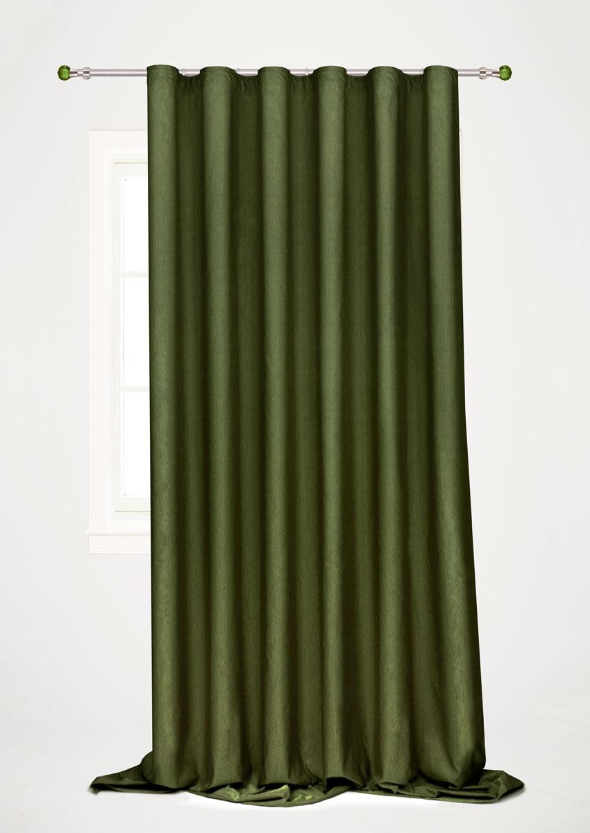 Штора готовая для гостиной Garden, на ленте, цвет: зеленый, 200 х 260 см. С 536097 V58IR-F1-WГотовая портьерная штора для гостиной Garden выполнена из 100% полиэстера. Богатая текстура материала и изысканная цветовая гамма привлекут к себе внимание и органично впишутся в интерьер помещения. Изделие оснащено шторной лентой для красивой сборки. Штора Garden великолепно украсит любое окно.