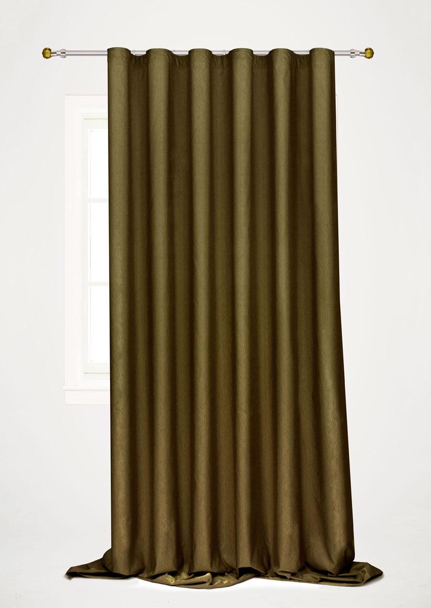 Штора готовая для гостиной Garden, на ленте, цвет: темно-зеленый, 200 х 260 см. С 536097 V60K100Готовая портьерная штора для гостиной Garden выполнена из 100% полиэстера. Богатая текстура материала и изысканная цветовая гамма привлекут к себе внимание и органично впишутся в интерьер помещения. Изделие оснащено шторной лентой для красивой сборки. Штора Garden великолепно украсит любое окно.