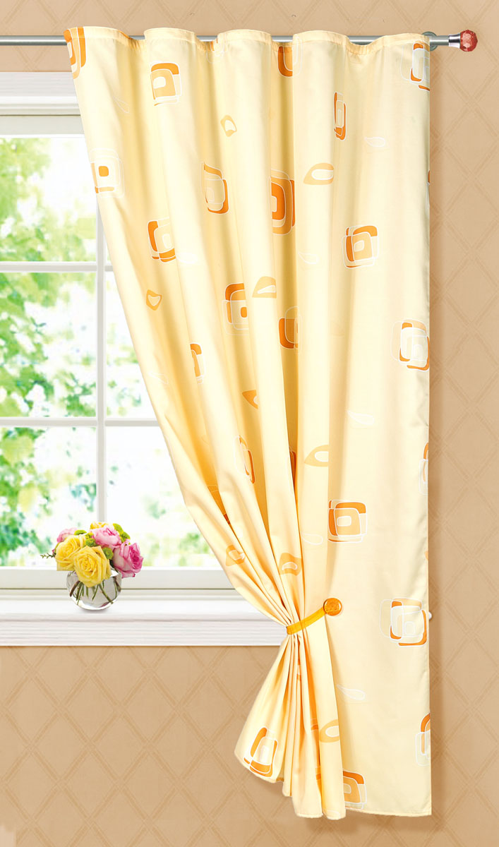Штора готовая для кухни Garden, на ленте, цвет: бежевый, размер 145*180 см. С 6232 - W1223 V27С 6232 - W1223 V27Портьерная готовая штора для кухни Garden выполнена из плотного сатина (полиэстера) и оформлена узором в виде квадратиков. Легкая текстура материала и яркая цветовая гамма привлекут к себе внимание и станут великолепным украшением любого окна. Она добавит немного уюта и послужит прекрасным дополнением к интерьеру кухни.