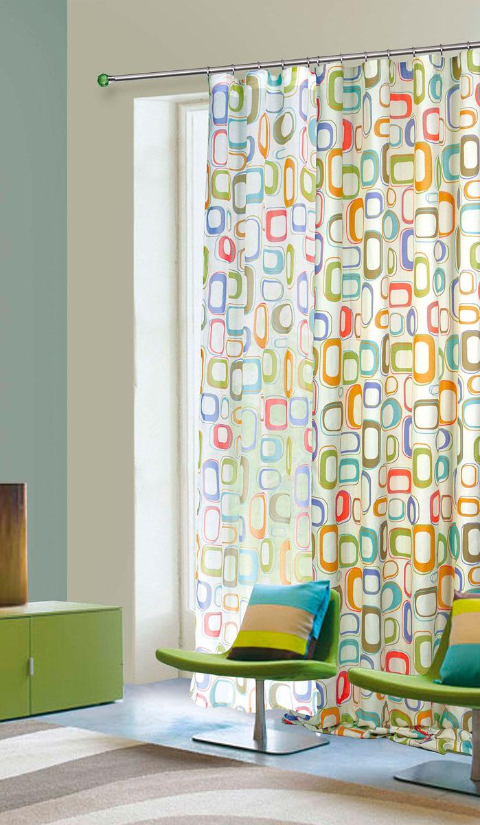 Штора готовая для гостиной Garden, на ленте, цвет: светло-зеленый, размер 145*260 см. С 7219 - W1687 V4K100Портьерная штора Garden выполнена из плотного репса (полиэстера) и богато украшена оригинальным узором. Блестящая текстура материала и нежная цветовая гамма привлекут к себе внимание и органично впишутся в интерьер помещения.Изделие оснащено шторной лентой для красивой сборки.Штора Garden великолепно украсит любое окно.