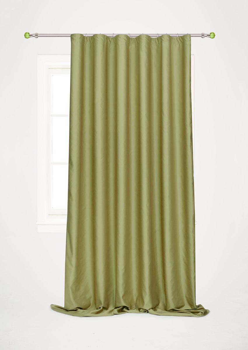 Штора для гостиной Garden, на ленте, цвет: болотный, 200*260 см. С W1223 V73172С W1223 V73172Роскошная штора-портьера Garden выполнена из сатина (100% полиэстера). Материал плотный и мягкий на ощупь.Оригинальная текстура ткани и нежный цвет привлекут к себе внимание и органично впишутся в интерьер помещения.Эта штора будет долгое время радовать вас и вашу семью!Штора крепится на карниз при помощи ленты, которая поможет красиво и равномерно задрапировать верх. Стирка при температуре 30°С.