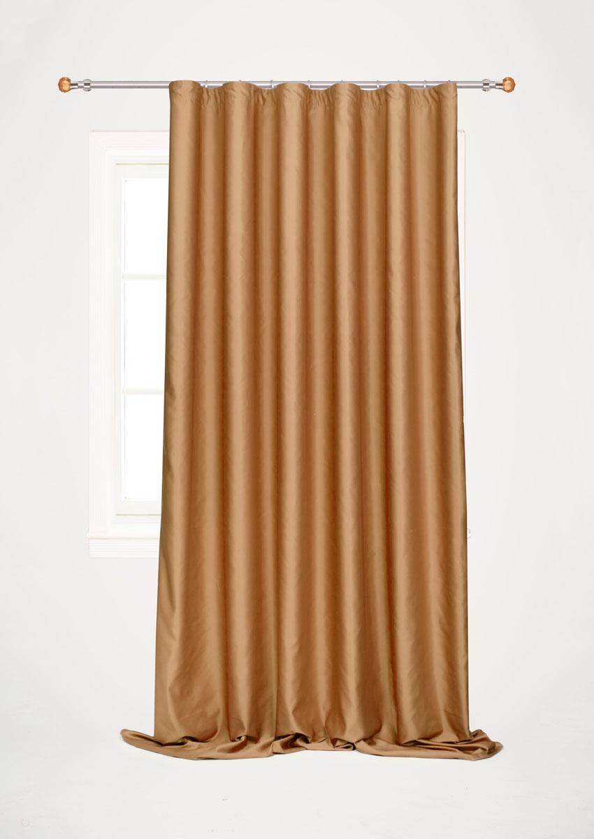 Штора для гостиной Garden, на ленте, цвет: шоколадный, размер 200*260 см. С W1223 V78070K100Роскошная штора-портьера Garden выполнена из сатина (100% полиэстера). Материал плотный и мягкий на ощупь.Оригинальная текстура ткани и нежный цвет привлекут к себе внимание и органично впишутся в интерьер помещения.Эта штора будет долгое время радовать вас и вашу семью!Штора крепится на карниз при помощи ленты, которая поможет красиво и равномерно задрапировать верх. Стирка при температуре 30°С.