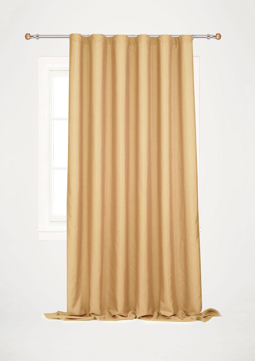 Штора готовая для гостиной Garden, на ленте, цвет: бежевый, размер 200*260 см. С W1687 V71172GC013/00Готовая штора-портьера для гостиной Garden выполнена из плотной ткани репс (полиэстер). Богатая текстура материала и спокойная цветовая гамма украсят любое окно и органично впишутся в интерьер помещения.Изделие оснащено шторной лентой для красивой сборки.