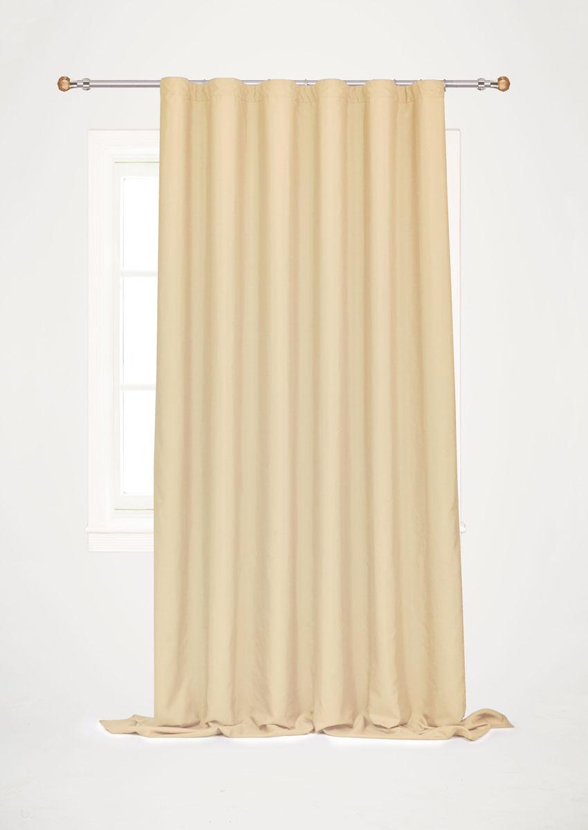 Штора готовая для гостиной Garden, на ленте, цвет: песочный, размер 200*260 см. С W1687 V72258С 1270 W356 V24Готовая штора-портьера для гостиной Garden выполнена из плотной ткани репс (полиэстер). Богатая текстура материала и спокойная цветовая гамма украсят любое окно и органично впишутся в интерьер помещения.Изделие оснащено шторной лентой для красивой сборки.