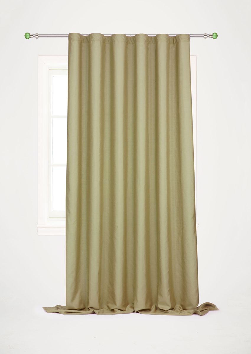 Штора готовая для гостиной Garden, на ленте, цвет: оливковый, размер 200*260 см. С W1687 V73172SVC-300Готовая штора-портьера для гостиной Decorato выполнена из плотной ткани репс (полиэстер). Богатая текстура материала и спокойная цветовая гамма украсят любое окно и органично впишутся в интерьер помещения.Изделие оснащено шторной лентой для красивой сборки.