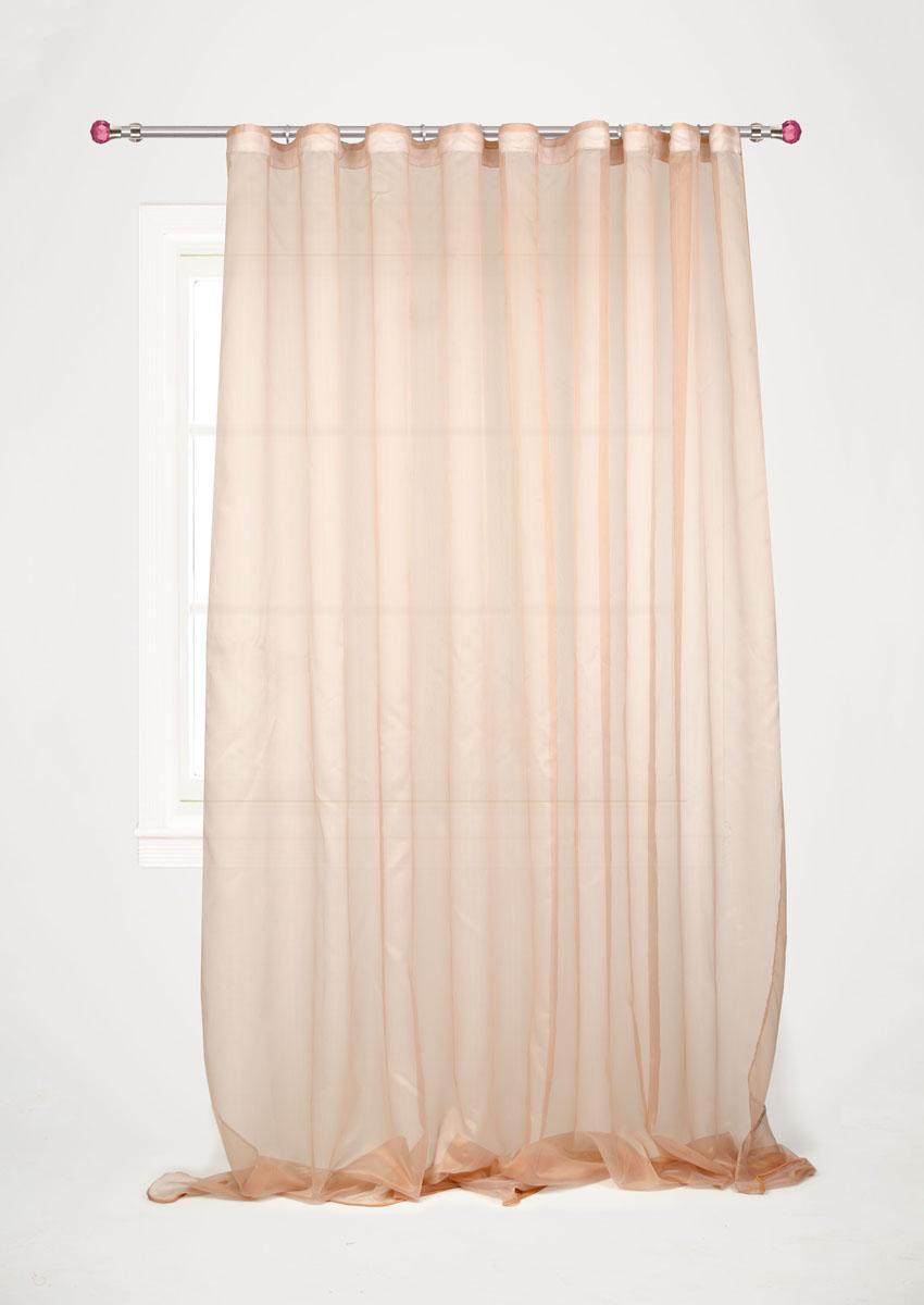 Штора готовая для гостиной Garden, на ленте, цвет: коричневый, размер 300*260 см. С W1741 V5GC013/00Изящная тюлевая штора Garden выполнена из структурной органзы (полиэстера). Полупрозрачная ткань, приятный цвет привлекут к себе внимание и органично впишутся в интерьер помещения. Такая штора идеально подходит для солнечных комнат. Мягко рассеивая прямые лучи, она хорошо пропускает дневной свет и защищает от посторонних глаз. Отличное решение для многослойного оформления окон. Эта штора будет долгое время радовать вас и вашу семью!Штора крепится на карниз при помощи ленты, которая поможет красиво и равномерно задрапировать верх.