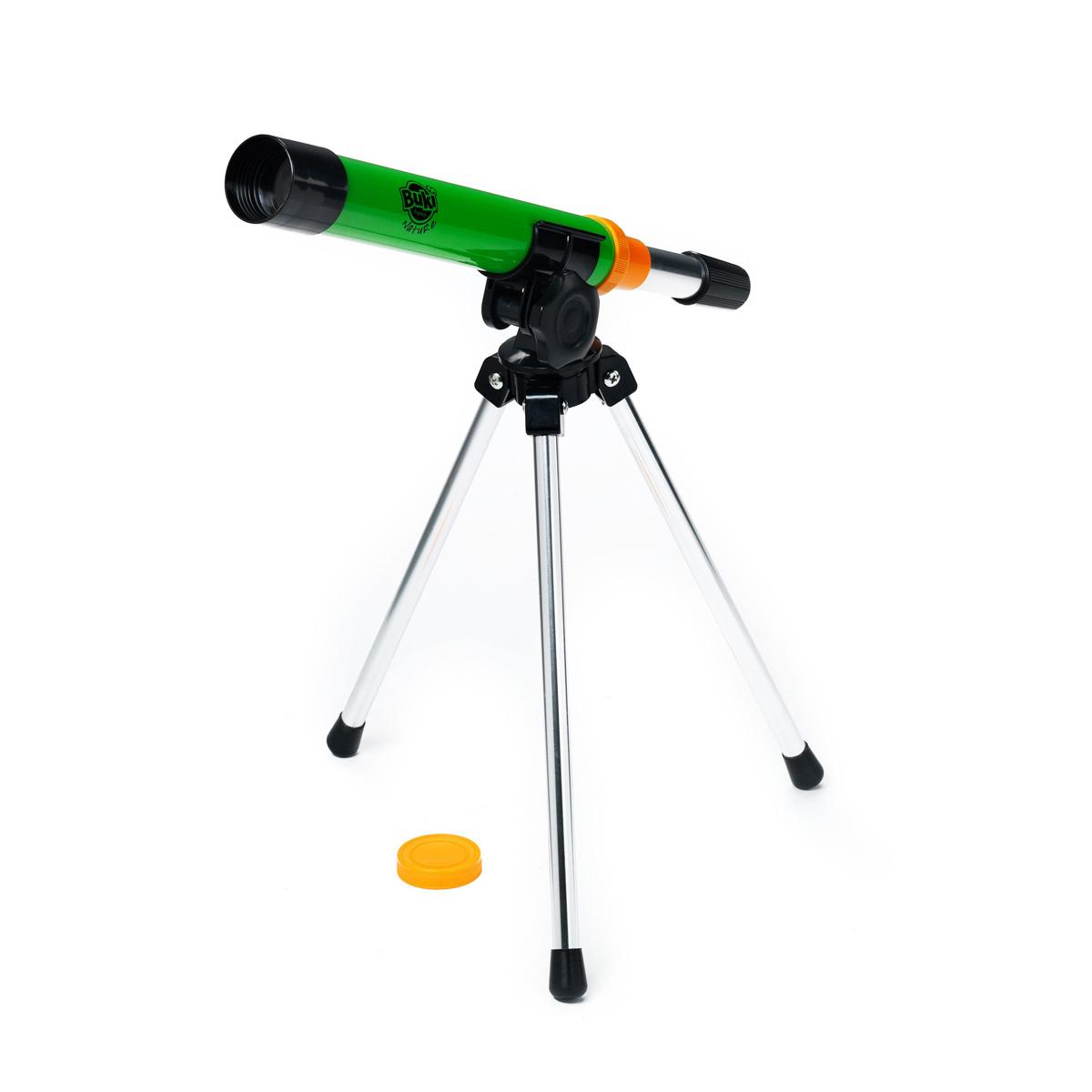 Если Вашего ребенка беспокоят вопросы космического масштаба, без телескопа просто не обойтись! Он способен увеличивать предметы в 30 раз, так что малыш легко сможет приблизиться к Луне и звездам. А также сможет внимательно рассмотреть муравьев, птиц и белок. Такой телескоп поможет разбудить в вашем малыше интерес к астрономии и станет отличным подарком для маленького «почемучки». Многие астрономы с мировым именем в свое время начинали открывать Вселенную с помощью этого простого инструмента! Телескоп очень прост в обращении и не требует особых навыков для использования. Малыш легко поймет, как через него наблюдать за небом, деревьями и людьми вокруг. У телескопа устойчивая и надежная тренога, так что ребенку будет удобно с ним обращаться.
