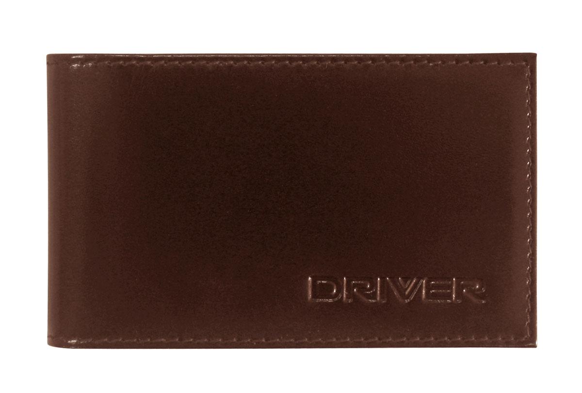Футляр для пластиковых карт Driver, цвет: коричневый. 12К2W16-11135_914Футляр для пластиковых карт Driver выполнен из натуральной кожи коричневого цвета и оформлен надписью бренда. Внутри находится блок из прозрачного пластика, рассчитанный на 18 пластиковых карточек или визиток, а также два отделения для хранения sim-карт.Кожгалантерея Driver изготовлена из высококачественной натуральной кожи. Специальное защитное покрытие способствует долгой службе изделий. Вся продукция гипоаллергенна. Прозрачные растительные краски подчеркивают натуральную фактуру. Множество отделений позволит сохранить документы в порядке. Характеристики:Материал:натуральная кожа, текстиль, ПВХ. Размер футляра в закрытом виде:11 см x 1 см х 6,7 см. Размер упаковки:11 см x 1 см x 10,5 см. Цвет: коричневый. Производитель:Россия. Артикул:12К2.