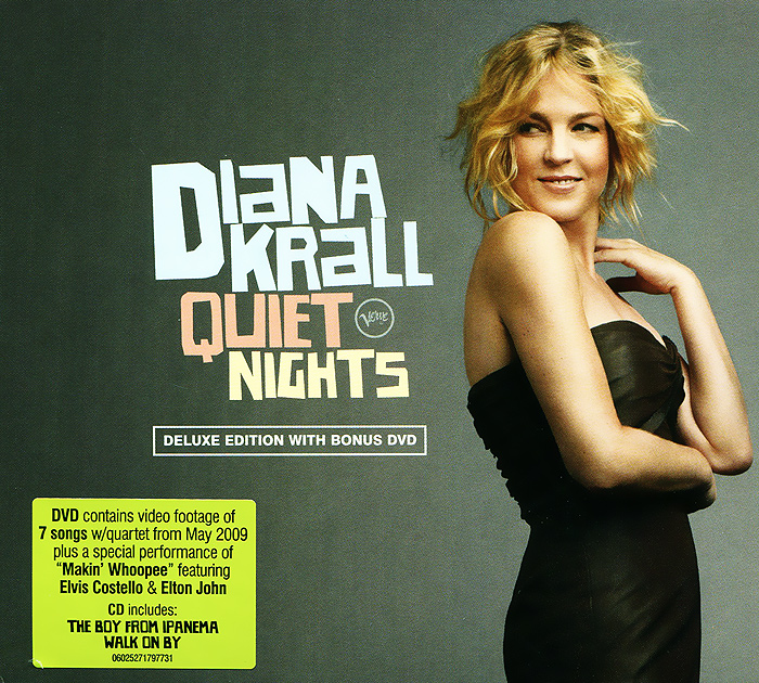 Дайана Кролл Diana Krall. Quiet Nights. Deluxe Edition (CD + DVD) джеймс блант james blunt all the lost souls deluxe edition cd dvd