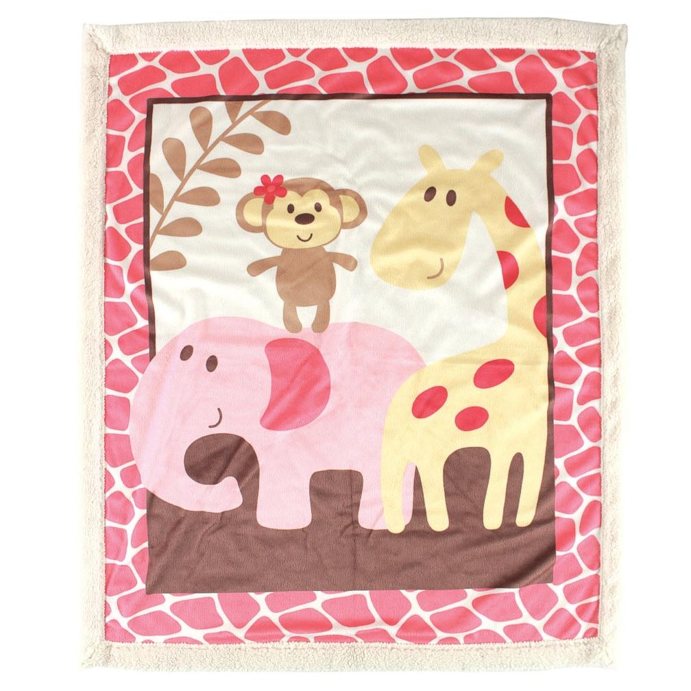 Одеяльце детское с ленточкой Друзья-сафари, цвет: розовый, 91 см х 91 см9-2Восхитительно мягкое и теплое одеяльце Друзья-сафари словно создано для того, чтобы окружить теплотой и радостью маленькую кроху. Оно прекрасно подходит для укрывания малыша, как дома, так и на прогулке в коляске. Верхний слой одеяла изготовлен из мягкого, приятного на ощупь флиса, нижний слой - из мягкой согревающей шерпы. Одеяло оформлено ярким веселым принтом.Благодаря размерам и практичному материалу одеяло очень удобно в использовании.Детское одеяло Друзья-сафари - лучший выбор родителей, которые хотят подарить ребенку ощущение комфорта и надежности уже с первых дней жизни. Рекомендации по уходу: - не гладить; - не отбеливать; - стирка при температуре не более 40°С; - сушка в барабане при более низкой температуре; - сухая чистка запрещена. Характеристики:Материал: 100% полиэстер (флис, шерпа). Цвет: розовый. Размер одеяла: 91 см х 91 см. Производитель: США. Изготовитель: Китай.