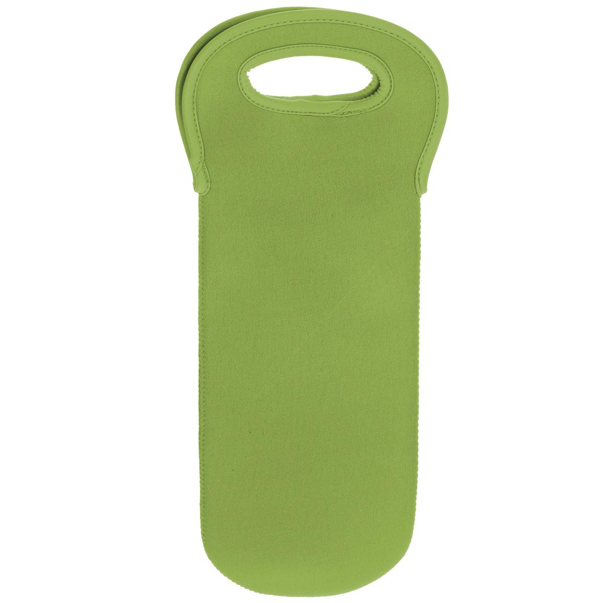 Держатель для бутылки Premier Housewares, цвет: зеленый115510Держатель для бутылки Premier Housewares выполнен из неопрена зеленого цвета. Неопрен - гибкий, но прочный материал. Он защитит бутылку от повреждений и надолго сохранит напиток холодным. Держатель оснащен двумя ручками для удобной переноски. Держатель для бутылки Premier Housewares незаменим для пикников, барбекю и путешествий. С таким ярким и удобным аксессуаром вы всегда сможете взять вино с собой! Характеристики: Материал: неопрен. Цвет: зеленый. Размер держателя: 38 см х 13 см. Артикул: 0806545.