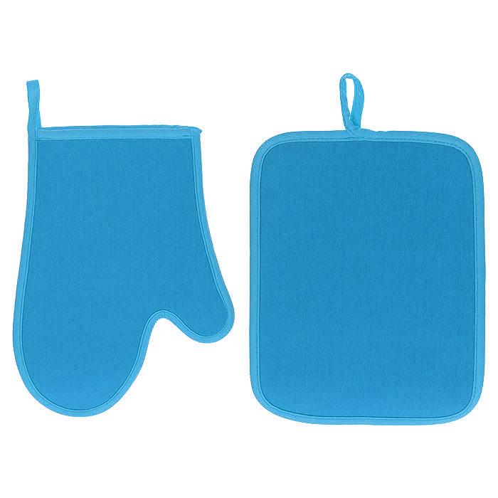 Набор Premier Housewares: прихватка, рукавица, цвет: голубойВетерок 2ГФНабор Premier Housewares состоит из прихватки и рукавицы, выполненных из неопрена голубого цвета. Материал очень прочный, эластичный, способен выдерживать температуру до 220°С. Прихватки надежно защитят ваши руки от ожогов, а своим ярким дизайном украсят вашу кухню. Прихватки можно подвешивать благодаря имеющимся на них петелькам. Такой набор - отличный вариант для практичной и современной хозяйки. Характеристики: Материал: неопрен. Цвет: голубой. Размер прихватки: 24 см х 18,5 см. Размер рукавицы: 19 см х 26 см. Артикул: 0806550.