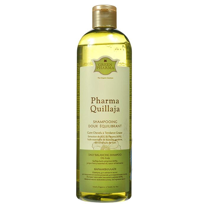 Greenpharma PharmaQuillajaШампунь для мягкости волос, для ежедневного использования, для жирной кожи головы, 500 млFS-00610Шампунь Greenpharma для мягкости волос предназначен для ежедневного использования для жирной кожи головы. Шампунь регулирует выделение себума, не вызывая ответную гиперсеборею, благодаря содержанию экстракта квиллайи( мыльного дерева).Квиллайяявляется одним из редких натуральных моющих веществ, благодаря большому количеству содержащихся в ней сапонинов, обладающих впитывающими свойствами. Шампунь особенно рекомендуется для частого мытья волос, которым он возвращает легкость и мягкость. Характеристики:Объем: 500 мл. Артикул: 7436. Производитель: Россия. Товар сертифицирован.
