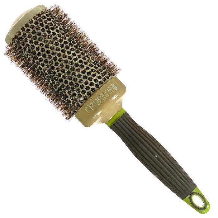 Macadamia Natural Oil Брашинг, 5,3 см3003Брашинг Macadamia Natural Oil предназначен для укладки длинных и густых волос. Отлично подходит для создания объема у корней, придания формы, как при выпрямлении, так и при создании локонов. Основа с керамическим покрытием. 100% натуральная щетина. Характеристики:Материал: щетина, керамика, пластик. Диаметр брашинга: 5,3 см. Производитель: США. Товар сертифицирован.