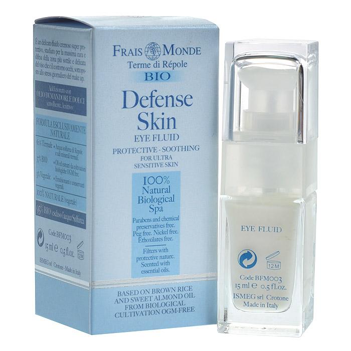 Frais Monde Крем-флюид для области вокруг глаз, на основе экстракта цельного риса и миндального масла, 15 мл3132Крем для области вокруг глаз интенсивно увлажняет нежную кожу вокруг глаз. Крем предназначен для всех типов кожи, имеет в основе инновационную формулу, которая содержит исключительно натуральные компоненты и может использоваться ежедневно. Состав крема гипоаллергенен, а благодаря натуральным фильтрам защиты, он отлично защищает кожу от действия свободных радикалов, от негативного воздействия окружающей среды и оказывает антистрессовый эффект. Bio Defense Skin прекрасно смягчает, стимулирует обновление кожи, восстанавливает ее жизненную силу и увлажняет кожу вокруг глаз. Благодаря уникальному природному составу, крем улучшает микроциркуляцию крови, препятствует старению клеток кожи. Характеристики:Объем: 15 мл. Артикул: BFMOO3. Производитель: Италия. Товар сертифицирован.