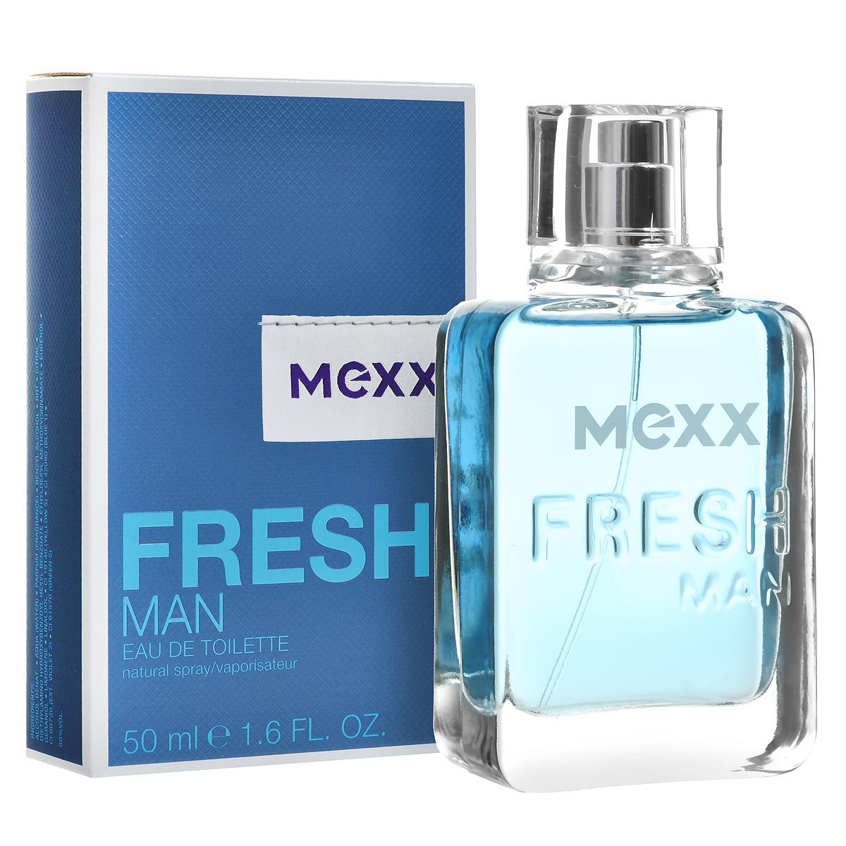 Mexx Туалетная вода Fresh Man, 50 мл0737052682235Мужской древесный водный парфюм Fresh Man создан голландским модным домом Mexx в 2011 году. Этот оригинальный, экзотический, слегка зеленый, чуть фруктовый, немного сливочный, выразительный, легкий, чистый, бодрящий древесный аромат с нотами амбры от Mexx напоминает свежий морской бриз, он придаст энергии, зарядит оптимизмом и подарит хорошее настроение на весь день. В букет композиции Fresh Man входит маракуя, зеленый кориандр, мускатный орех и амбра. Парфюм подходит для использования в качестве дневного аромата, лучше всего раскрывается в теплую весеннюю и летнюю погоду.Верхняя нота: Маракуя.Средняя нота: зеленый кориандр, мускатный орех.Шлейф: Амбра.Теплый, манящий мускатный орех и кориандр придают сердцу аромата мягкость и зрелость, а нижняя нота представлена древесно-амбровым сочетанием, несущим прозрачность, легкость и свет.Дневной и вечерний аромат.
