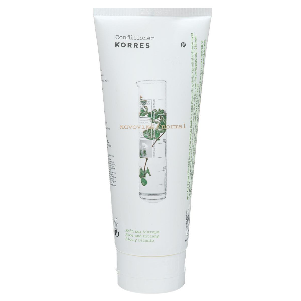 Korres Кондиционер для нормальных волос, с алоэ и диким бадьяном, 200 млFS-0089790,5% натуральных ингредиентов. Мягкое отшелушивающее средство для ежедневного использования. Эффективно удаляет излишки себума, загрязнения, макияж, а также омертвевшие клетки. Делает кожу гладкой и сияющей. Не содержит мыла, не сушит кожу. Почему именно дикая роза стала основой линии? Дикая роза, богатая витамином С, выравнивает тон кожи, предупреждает появление пигментации и появление первых признаков старения; Масло дикой розы обеспечивает длительное увлажнение, обладает противоспалительным действием и смягчает кожу; Масло дикой розы образует защитную пленку на коже, которая способствует регенерации клеток и улучшает текстуру кожи.Небольшое количество средства нанести на чистые влажные волосы. Равномерно распределить кондиционер по длине волос. Оставить на 1-2 мин и смыть водой.