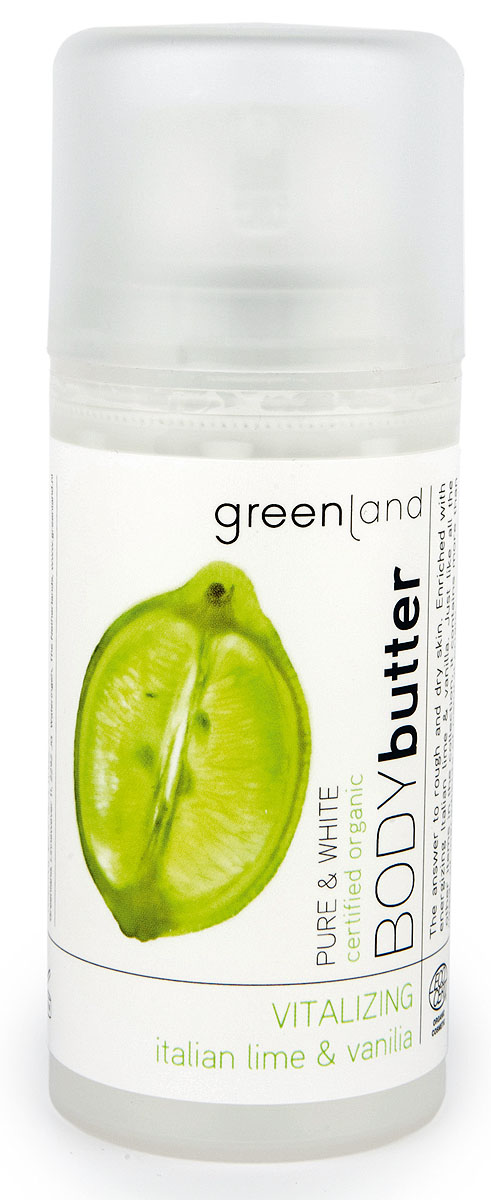 Greenland Крем для тела Pure & White, итальянский лайм и ваниль, 100 мл20010272Крем для тела глубоко увлажняет и питает кожу, делая ее более эластичной. Итальянский лайм и ваниль придают бодрость и энергию Вашей коже. Все продукты серии Pure & Whiteотмечены сертификатом органической косметики Ecocert, что подтверждает ее органическое происхождение.Способ применения: Наносите на тело легкими массажными движениями. Характеристики:Объем: 100 мл. Артикул: 0392-PWN32. Производитель: Нидерланды. Товар сертифицирован.Состав: вода, масло ши, масло подсолнечника, триглицериды каприлик-каприк, глицерин, масло какао, стеарил глюкозид, бензоат натрия, ксантановая камедь, токоферол, сок алоэ, линалоол, парфюмерная композиция, экстракт лайма, ваниль.