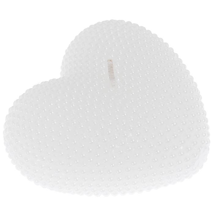 Свеча Сердце, цвет: белый. 944480392104192Свеча Сердце выполнена из парафина белого цвета. Форма в виде сердца делает ее идеальным аксессуаром для создания атмосферы романтики в вашем доме. Характеристики: Материал: парафин. Цвет: белый. Размер свечи (ДхШхВ): 8 см х 7,5 см х 3 см. Размер упаковки: 10 см х 10 см х 4 см. Артикул: 94448.