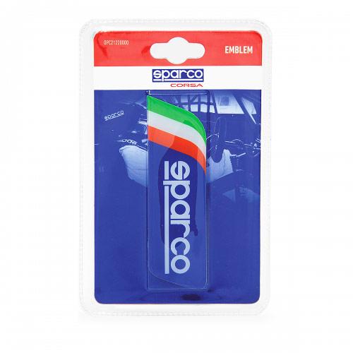 Эмблема с логотипом Sparco, самоклеящаяся, цвет: синий. SPC/EMB-002 BLCA-3505Эмблема с логотипом Sparco выполнена в фирменном дизайне Sparco и украшена изображением итальянского флага. Это лакированная объемная эмблема с эффектом 3D. На поверхность эмблема надежно крепится при помощи самоклеящейся основы. Традиционно ее устанавливают на багажник автомобиля или любую другую плоскость кузова, но при желании ею можно украсить и интерьер автомобиля. Эмблема с логотипом Sparco подчеркнет динамичный характер автомобиля и придаст ему яркие и запоминающиеся черты. Характеристики: Материал: бумага. Цвет: синий. Размер эмблемы: 12 см х 3,5 см. Размер упаковки: 2 см х 15 см х 9 см. Артикул: SPC/EMB-002 BL.