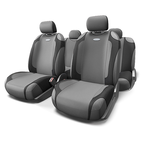 Чехлы-майки Autoprofi Generation, велюр, цвет: черный, темно-серый, 9 предметов. GEN-805T BK/D.GY21395599Автомобильные чехлы-майки Autoprofi Generation, выполненные из велюра, могут использоваться с сиденьями всех типов. Форма чехлов позволяет быстро и без затруднений надевать их на кресла, не снимая подголовники и подлокотники.Спокойный дизайн и приятные тона маек передают водителю и пассажирам ощущения домашнего уюта и тепла. Ворсистый велюр чехлов, триплированный поролоном, делает их на ощупь мягкими и бархатистыми. Материал не выцветает на солнце, не электризуется и обладает высокими грязеотталкивающими свойствами. Комплектация: - 1 сиденье заднего ряда, - 1 спинка заднего ряда, - 2 чехла переднего ряда, - 5 подголовников, - набор фиксирующих крючков.Особенности: Использование с любыми типами сиденийПоролон - 5 мм