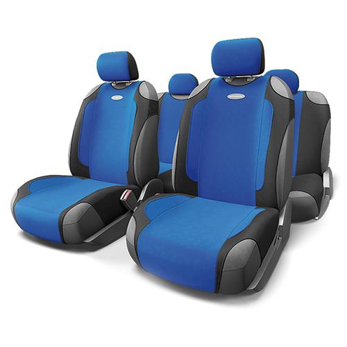 Чехлы-майки Autoprofi Generation, велюр, цвет: черный, синий, 9 предметов. GEN-805T BK/BLDH2400D/ORАвтомобильные чехлы-майки Autoprofi Generation, выполненные из велюра, могут использоваться с сиденьями всех типов. Форма чехлов позволяет быстро и без затруднений надевать их на кресла, не снимая подголовники и подлокотники.Спокойный дизайн и приятные тона маек передают водителю и пассажирам ощущения домашнего уюта и тепла. Ворсистый велюр чехлов, триплированный поролоном, делает их на ощупь мягкими и бархатистыми. Материал не выцветает на солнце, не электризуется и обладает высокими грязеотталкивающими свойствами. Комплектация: - 1 сиденье заднего ряда, - 1 спинка заднего ряда, - 2 чехла переднего ряда, - 5 подголовников, - набор фиксирующих крючков.Особенности: Использование с любыми типами сиденийПоролон - 5 мм